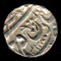 Orchha (Indian Princeley State), 1270, 1 rupee, XF AG